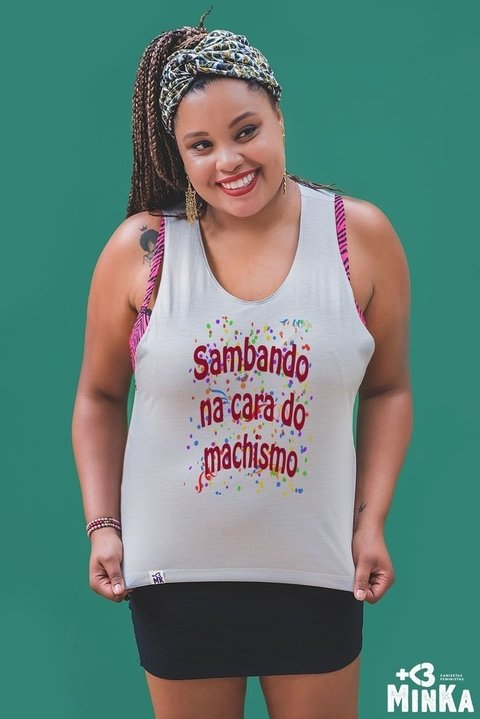 Camiseta Sambando na Cara do Machismo