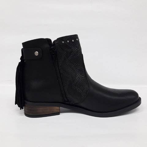 Bota dama cuero vacuno Green and black - comprar online
