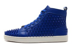 Imagem do Louboutin Louis Spikes Men's Flat azul