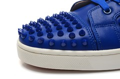Louboutin Louis Spikes Men's Flat azul