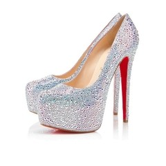 Pump Louboutin New Very Riche Strass salto 14cm. - comprar online