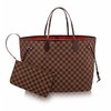 Bolsa Louis Vuitton NEVERFULL Damier Ebène GM