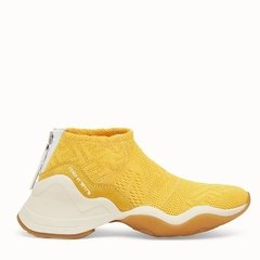 High-tech yellow jacquard sneakers