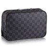 Trousse Toilette GM Canvas Damier Graphite