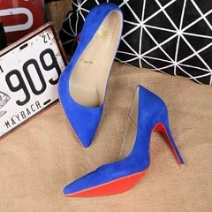 Imagem do Pump Louboutin Decoltish Veau Velours 10cm - 249