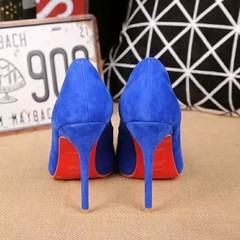 Pump Louboutin Decoltish Veau Velours 10cm - 249 na internet
