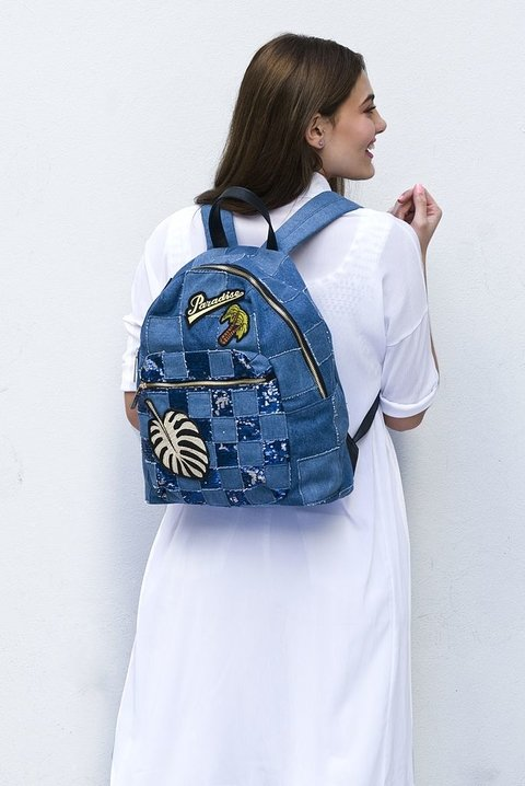 LUCAYA MOCHILA PW1001 DENIM & PATCH