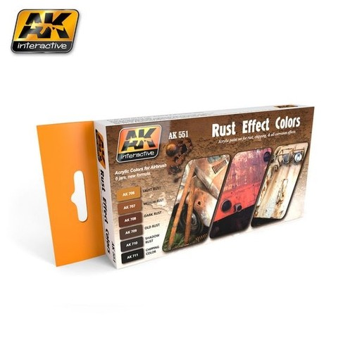 RUST EFFECTS COLORS SET AK Interactive - Pré-venda