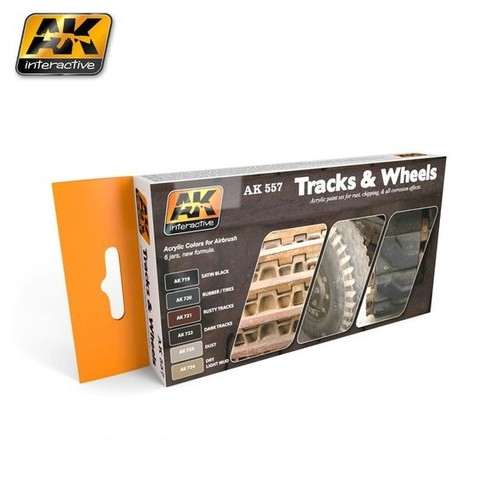 TRACK AND WHEELS COLORS SET AK Interactive - Pré-venda