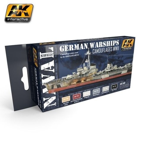 GERMAN WARSHIPS COLORS SET AK Interactive - Pré-venda