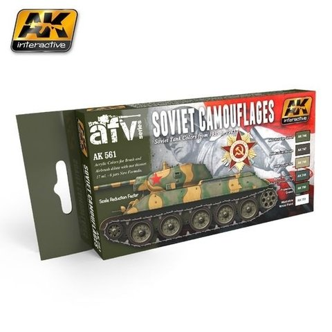 SOVIET CAMOUFLAGES COLORS SET AK Interactive - PRÉ-VENDA