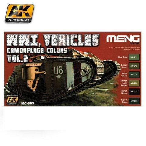 WW1 Vehicles Camouflage Colors Vol.2 Meng - PRÉ-VENDA