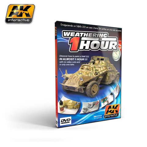 DVD Weathering in One Hour AK Interactive - Pré-venda