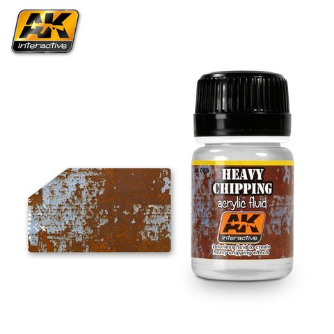 Heavy Chipping Acrylic Fluid AK Interactive - Pré-venda