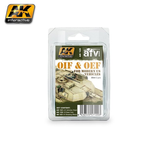 OIF/OEF Vehicles Weathering Set AK Interactive - PRÉ-VENDA