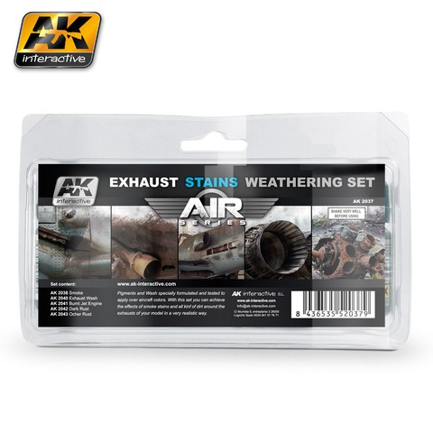Exhaust Stains Weathering Set AK Interactive - Pré-venda