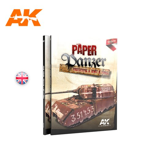 Livro Paper Panzer: Prototypes and What If AK Interactive - Pré-venda