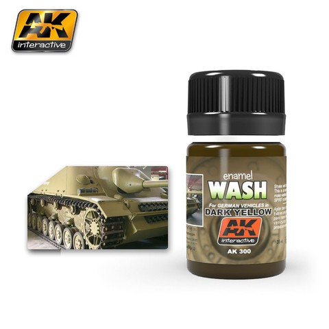 Wash for  Dark Yellow AK Interactive - Pré-venda