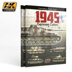 1945 German War Colors Camouflage Profile Guide AK Interactive - Pré Venda
