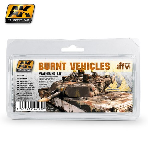 Burnt Vehicles Set AK Interactive