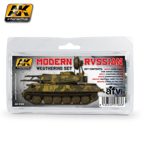 Modern Russian Weathering Set AK Interactive - Pré-venda