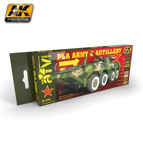 PLA ARMY AND ARTILLERY COLORS SET AK Interactive - Pré-venda