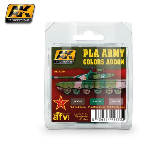 PLA Army Colors Addon Colors Set AK Interactive - Pré-venda