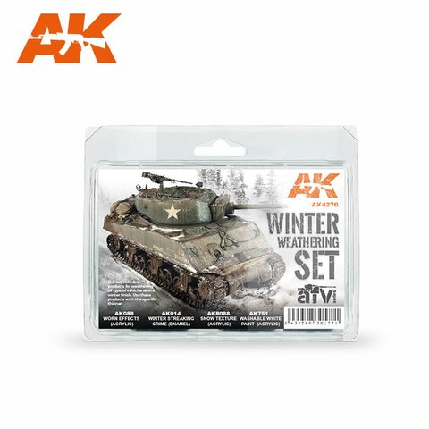 Winter Weathering Set AK Interactive - PRÉ-VENDA
