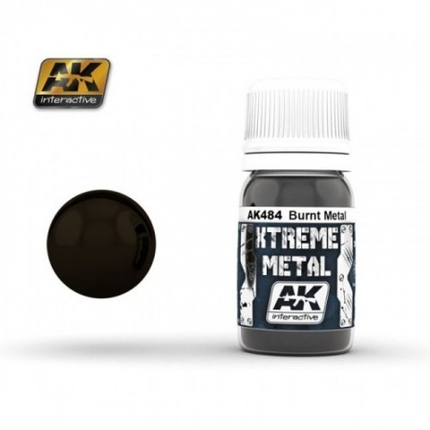 Xtreme Metal Burnt Metal AK Interactive - PRÉ-VENDA