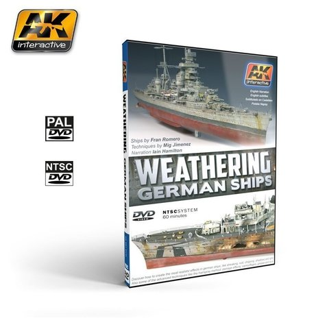 DVD Weathering German Ships AK Interactive - Pré-venda