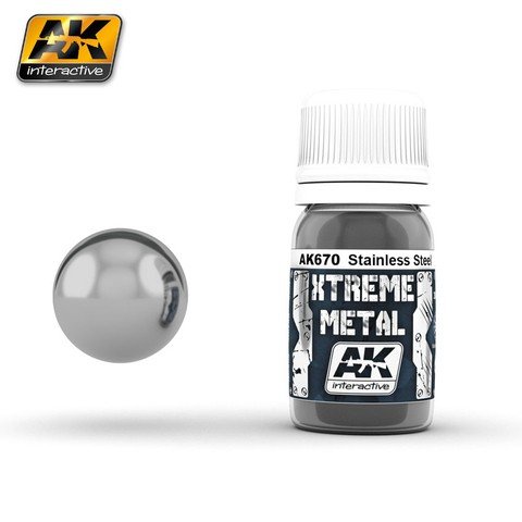 Stainless Steel Xtreme Metal AK Interactive - Pré-venda