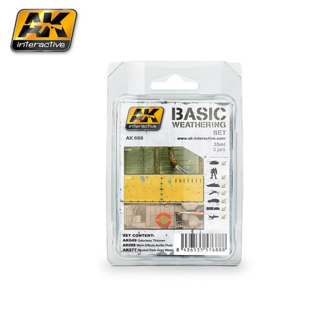 Basic Weathering Set AK Interactive - PRÉ VENDA