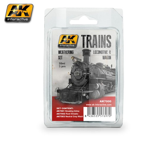 Trains, Locomotives and Wagons Weathering Set AK Interactive