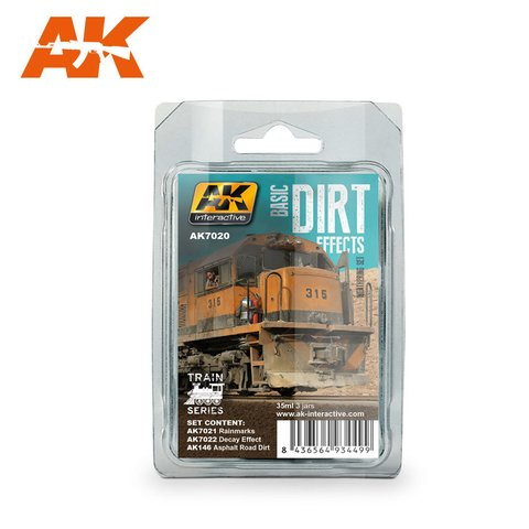 Basic Dirt Weathering Effects Set AK Interactive - PRÉ-VENDA