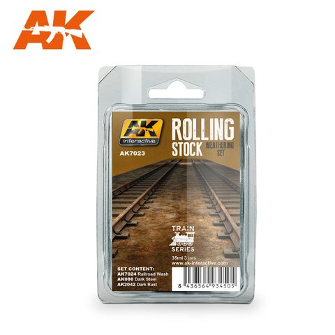 Rolling Stock Weathering Set AK Interactive - PRÉ-VENDA