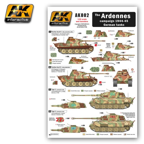 Ardennes Campaign German Tanks AK Interactive - Pré-venda