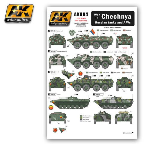 War in Chechnia Russian Tanks and AFVs AK Interactive - Pré-venda