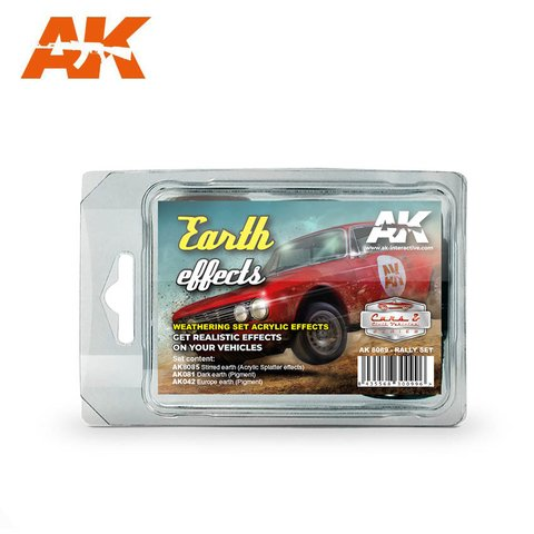 Earth Effects(Rally Set) AK Interactive - PRÉ-VENDA