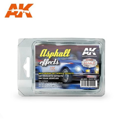 Asphalt Effects(Race Set) AK Interactive - PRÉ-VENDA