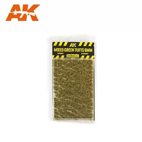 Mixed Green Tufts 6mm AK Interactive - PRÉ-VENDA