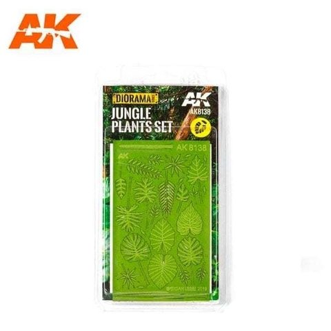 Folha Jungle Plants 1/35 AK Interactive - PRÉ-VENDA