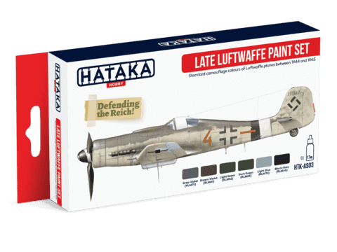 Late Luftwaffe Paint Set Hataka Hobby - Pré-venda