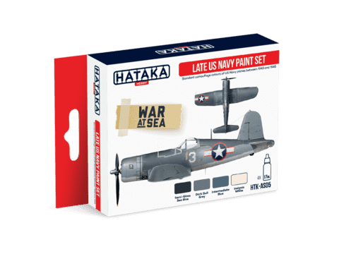 Late US Navy Paint Set Hataka Hobby - Pré-venda