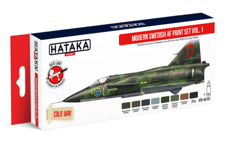 Modern Swedish AF paint set vol. 1 Hataka Hobby - Pré-venda