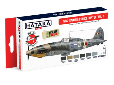 WW2 Italian Air Force Paint Set Vol. 1 Hataka Hobby - Pré-venda