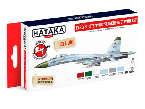 Su-27S/PB/UB Early Paint Set Hataka Hobby - Pré-venda
