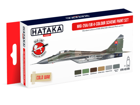 MiG-29A/UB 4-colour Scheme Paint Set Hataka Hobby - PRÉ-VENDA