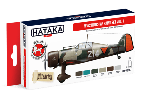 WW2 Dutch AF paint set vol. 1 Hataka Hobby - PRÉ-VENDA