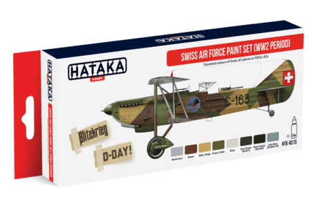 Swiss Air Force Paint Set Hataka Hobby - Pré-venda