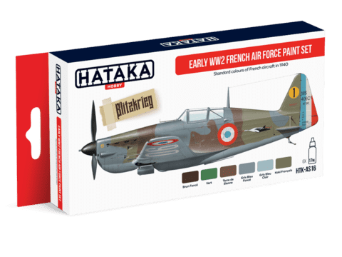 Early WW2 French Air Force Paint Set Hataka Hobby - PRÉ-VENDA